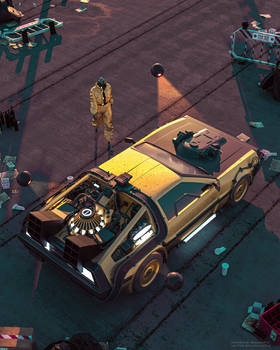 Nightcall - Cyberpunk X Back To The Future mashup