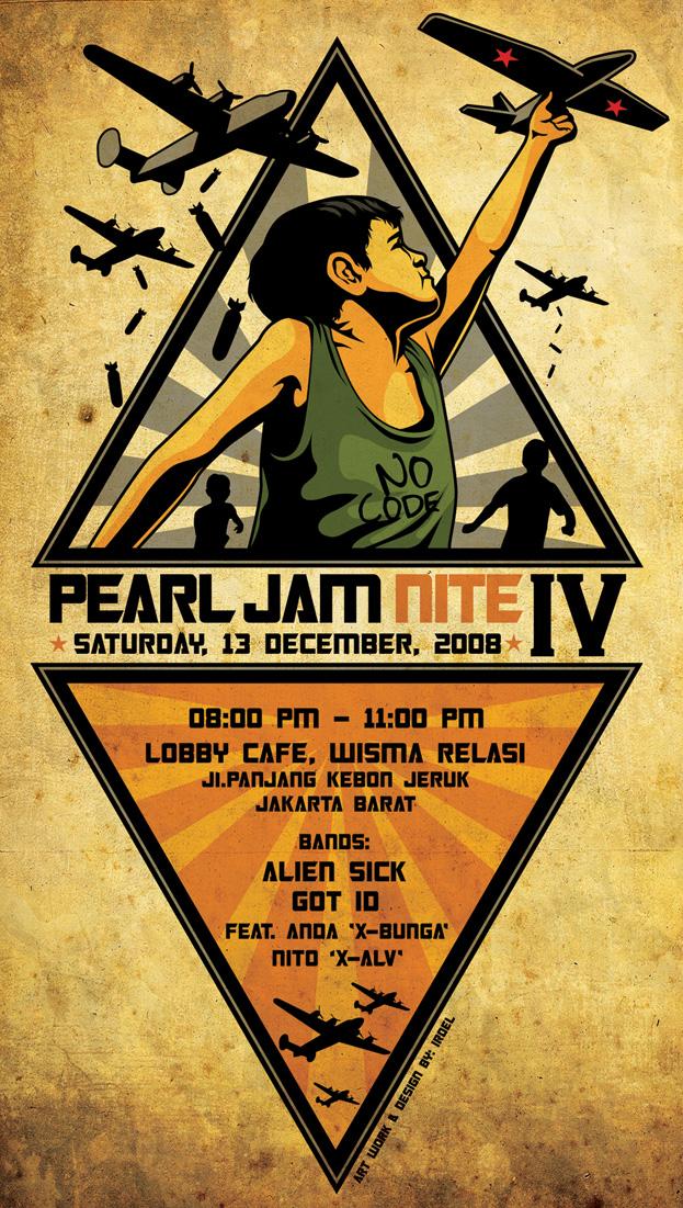 Pearl jam NIte IV Poster by roelrocker