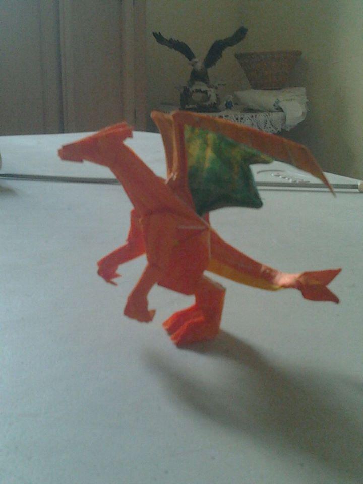 origami charizard by wolfsanchez on deviantart
