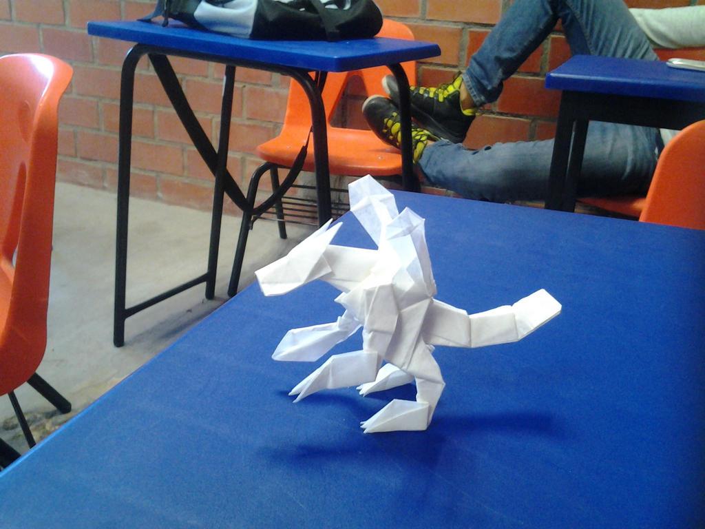 Origami Mugendramon by wolfsanchez