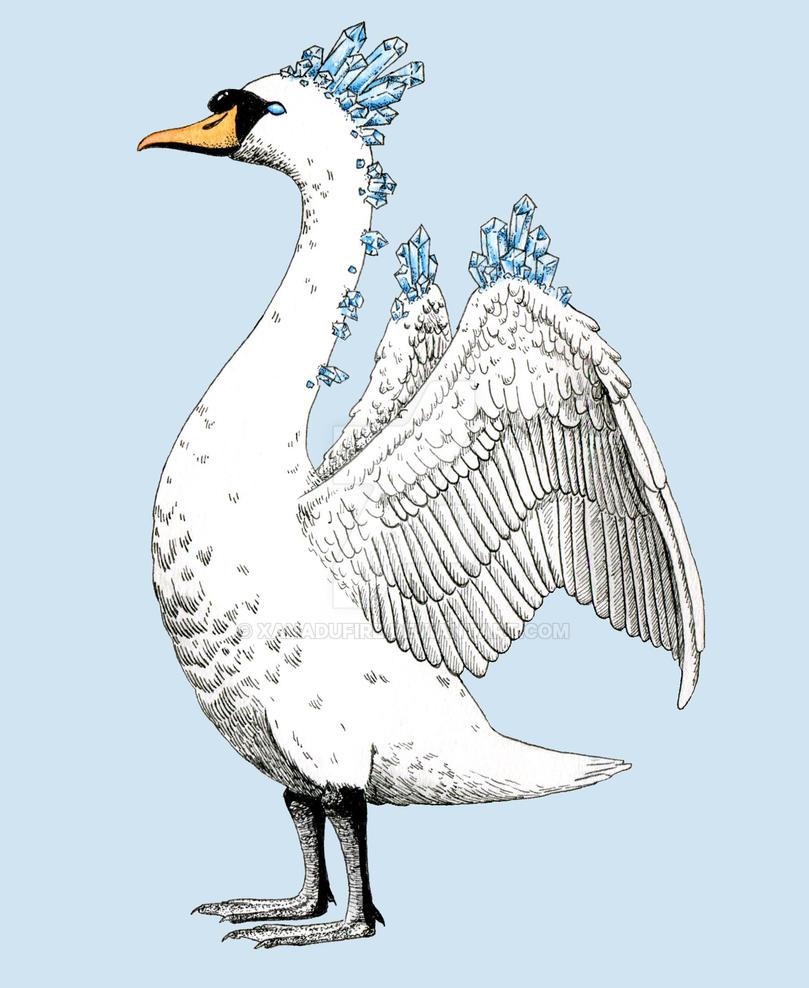 Crystallised Swan by Xanadufire