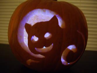 kitty pumpkin by unforgivenlife