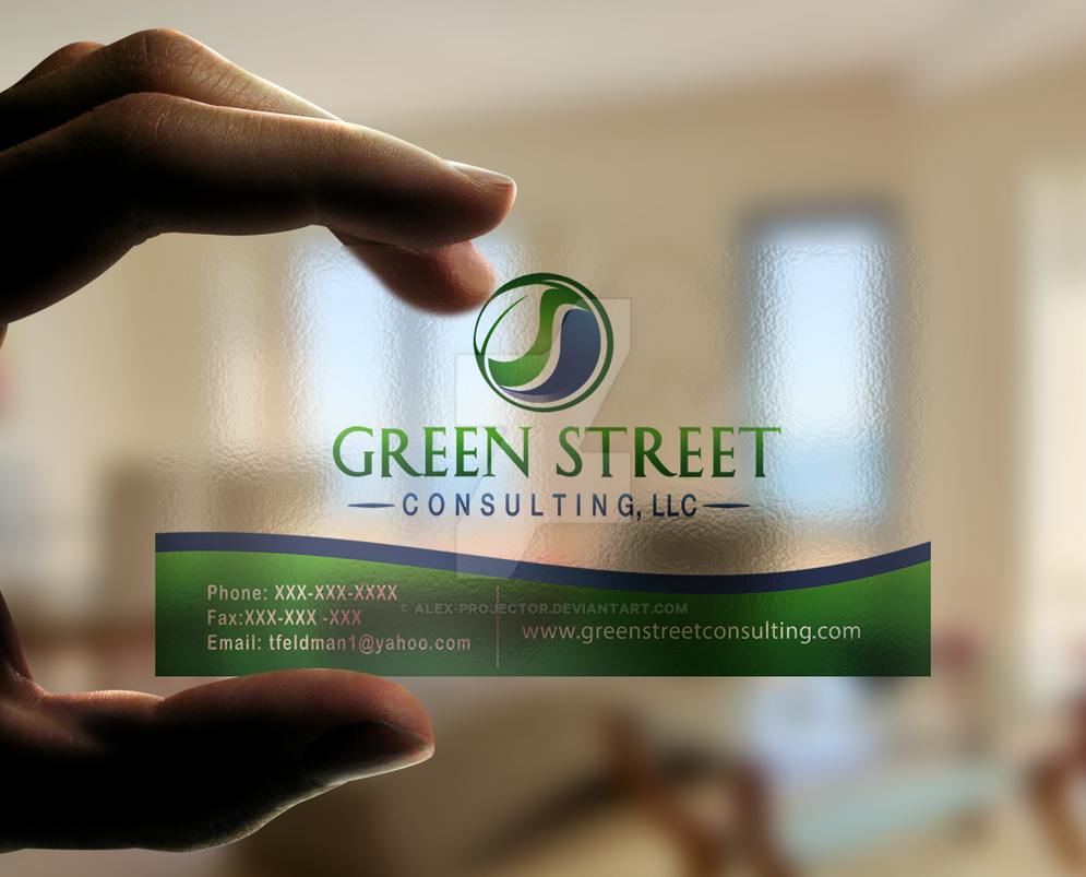 GREEN STREET CONSULTING BUSINESS CARD by alex-projector on DeviantArt