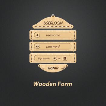 Wooden Webform by alkaleo