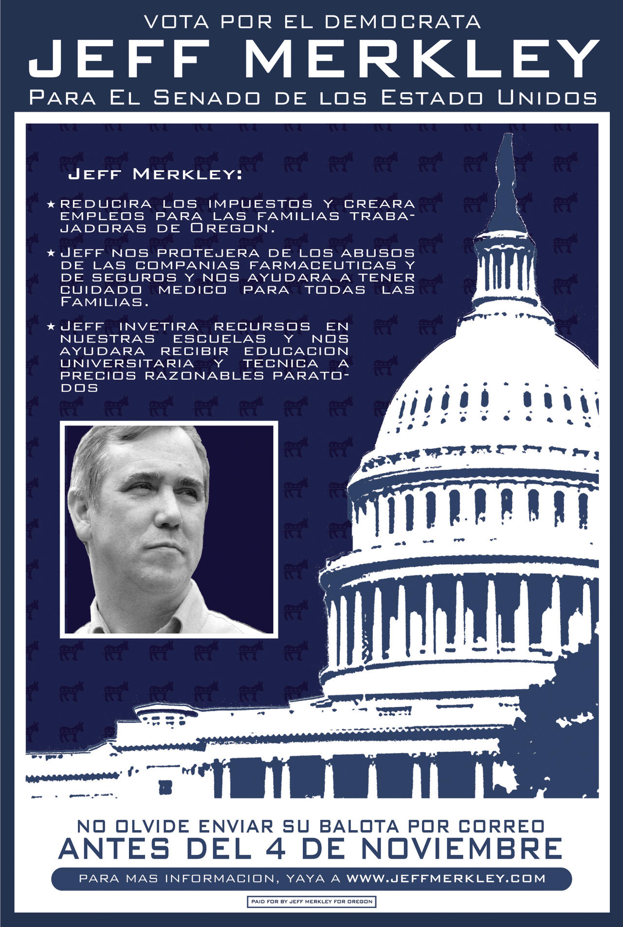 Jeff Merkley Campaign Flyer II by JackRaz