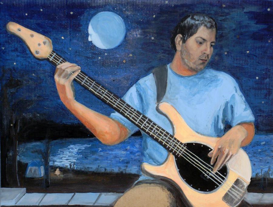 Self Portrait with Bass... by JackRaz