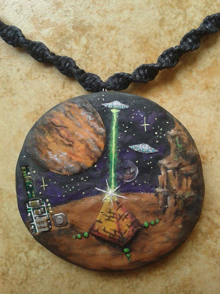 Orgonite explore orgonite on deviantart duchednier 10 4 handmade ufo pyramid pendant necklace by orgonitecity mozeypictures Choice Image