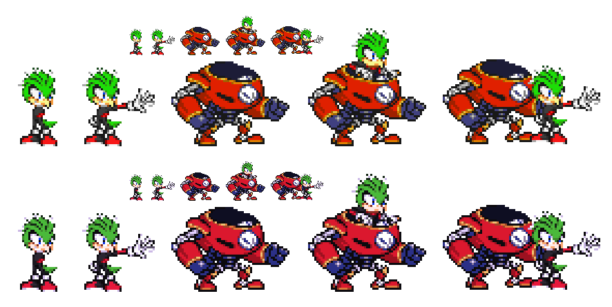 [Sonic OC] Wingman and S-Rider Sprites by XTP597