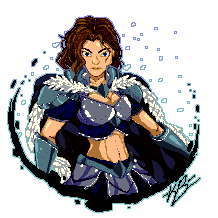 [Commission] Ice Mage Pixel Art by XTP597