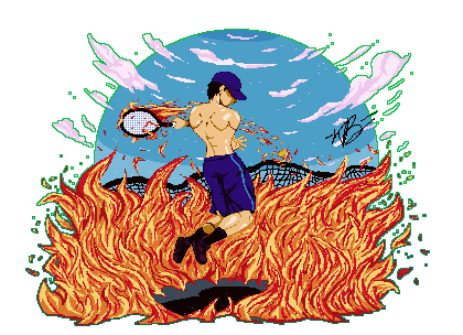 [Commission] Tennis Play on Fire by XTP597