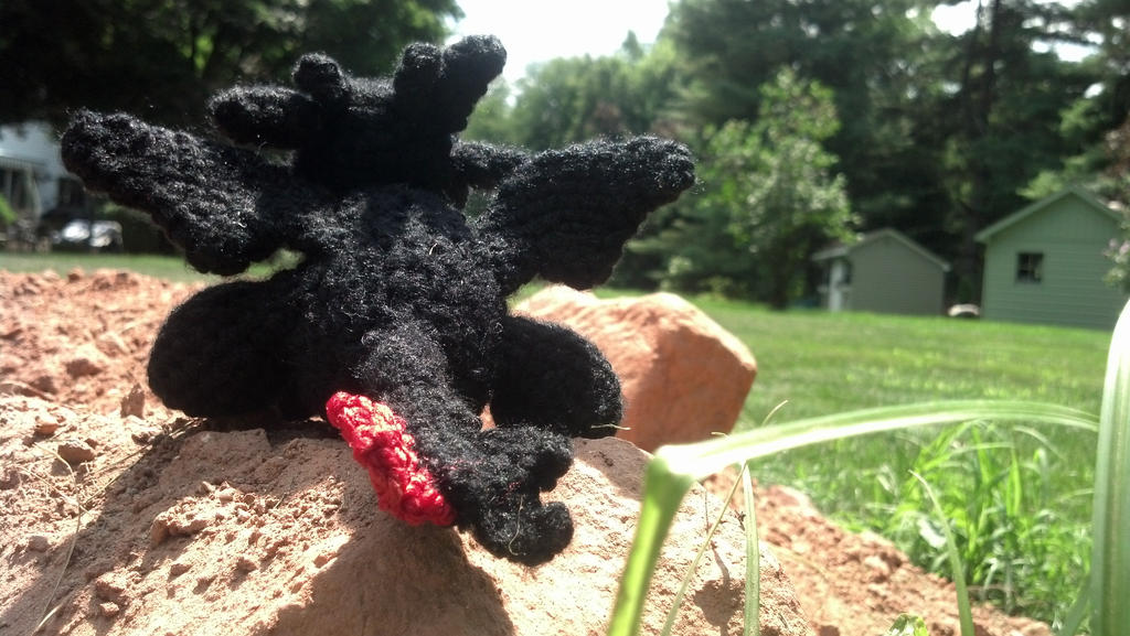 Toothless Amigurumi (back) by Sachiaoitori