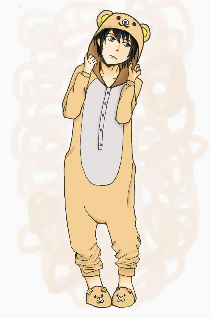 Tomoe Misumi in Rilakkuma Sleepwear by hyuuchiha