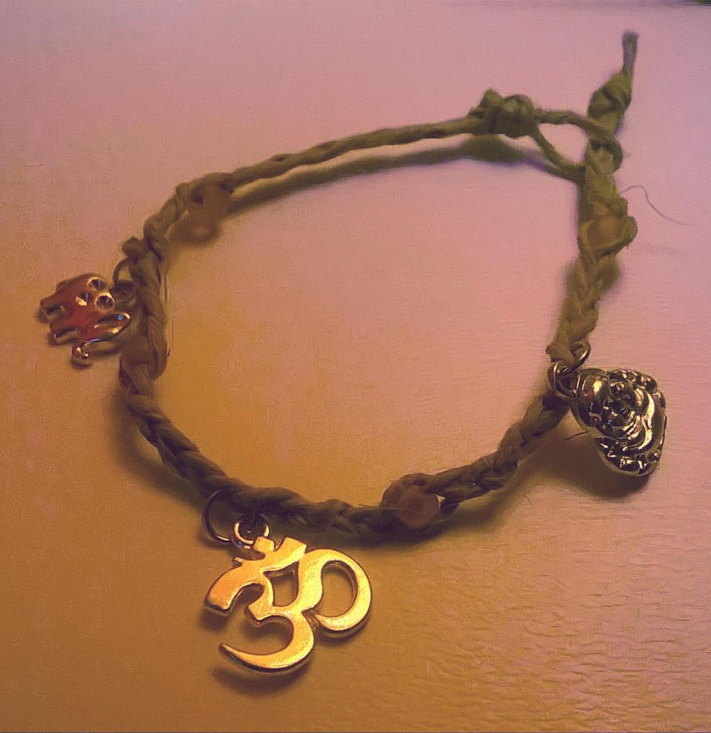 Buddhist Hemp Charm Bracelet By Elwyndivine Buddhist Hemp Charm Bracelet By  Elwyndivine