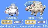 Hogwash and Wartahog - Ancient Vessel Pokemon