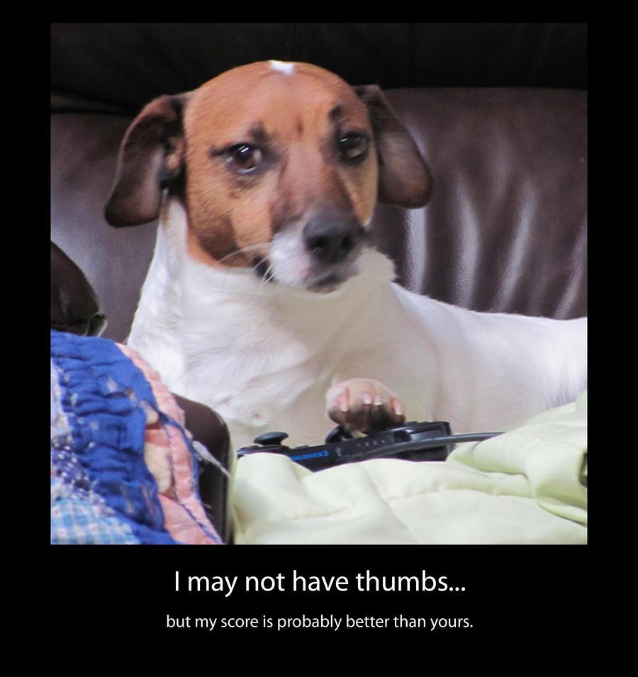 gamer dog by hehlfire on deviantart