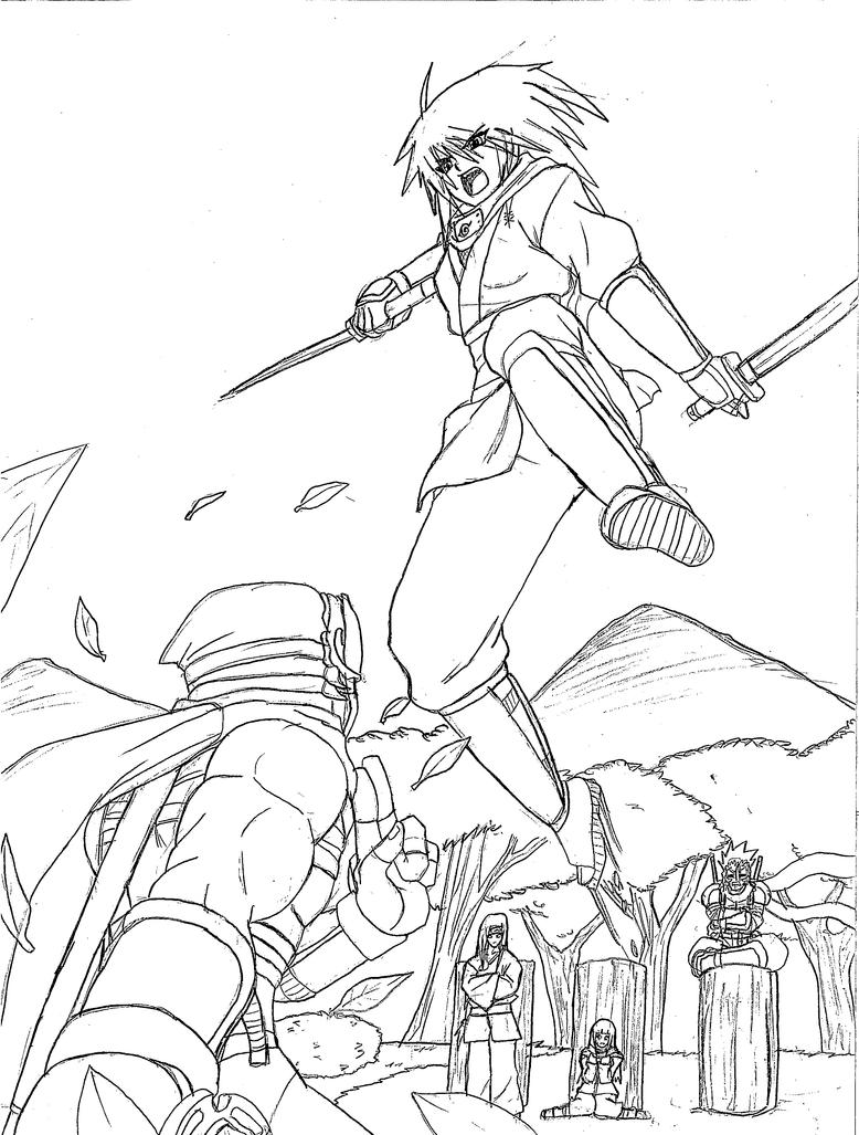 Line Art Ninja : At mio vs ryu line art by ninja on deviantart