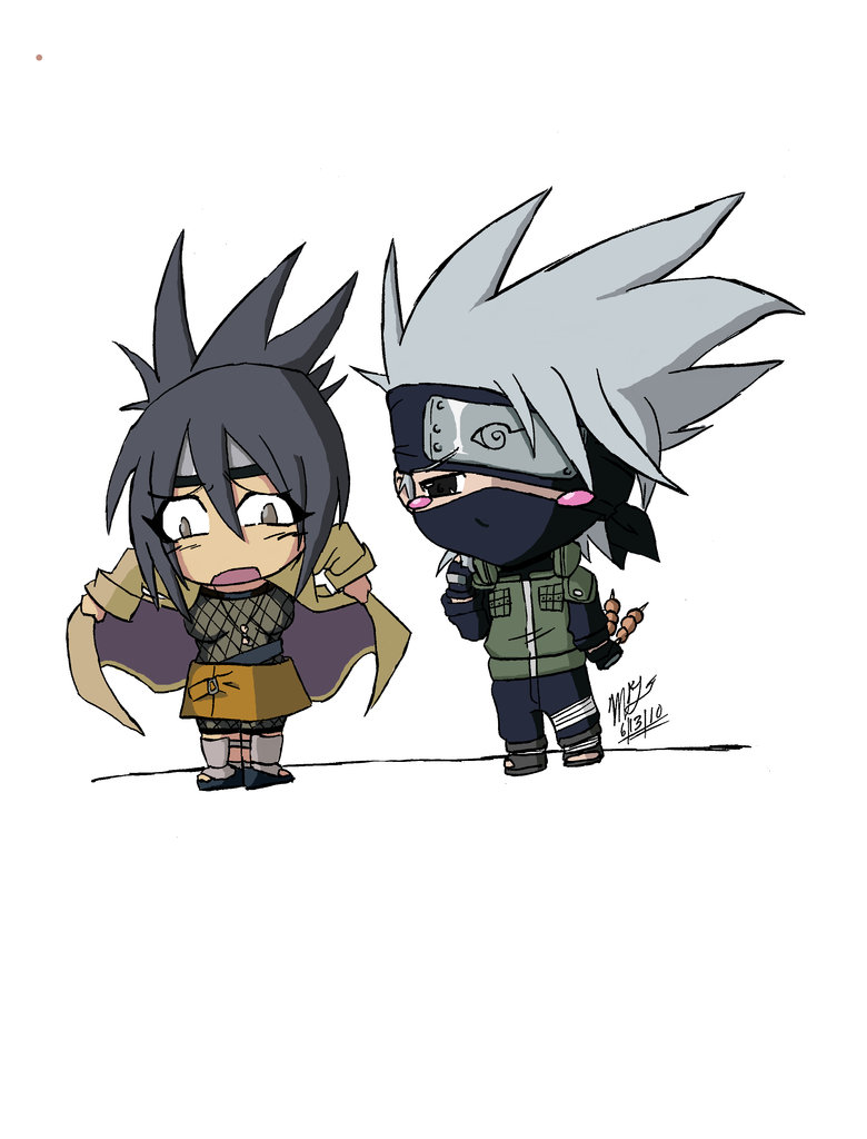 Kakashi and Anko chibbies by Ninja-8004