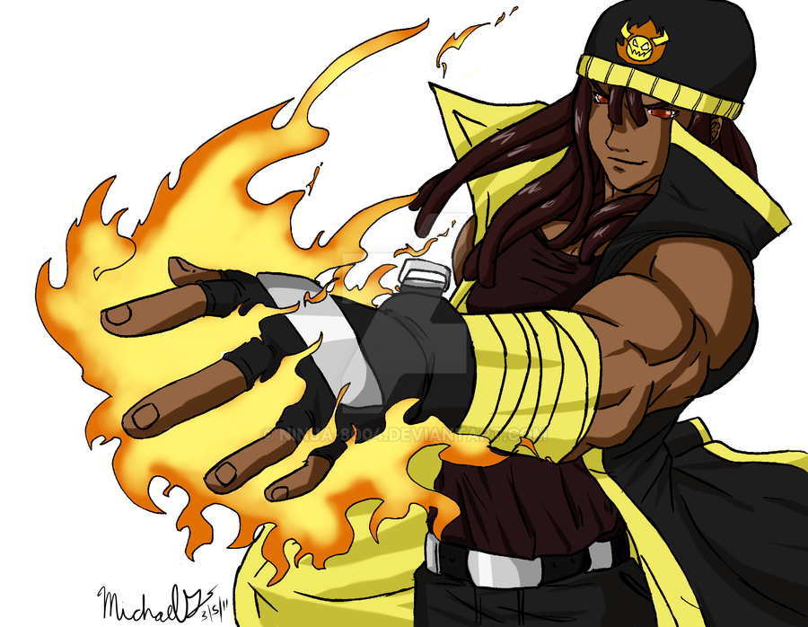 Pyro colored by ninja 8004 on deviantart for Domon man 2015