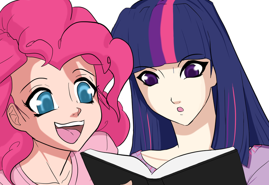 Pinkie Pie and Twilight by Ninja-8004
