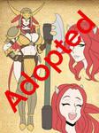 Adoptable : Moo-Chan Axe Maiden
