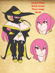 adoptable: Dwarf-Chan Thicc mage