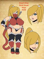 Adoptable: Dwarf-Chan Thicc ninja