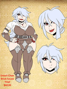 Adoptable: Dwarf-Chan thief