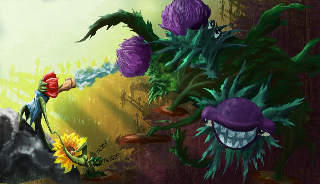 Flower Fight1 by MotoLungs