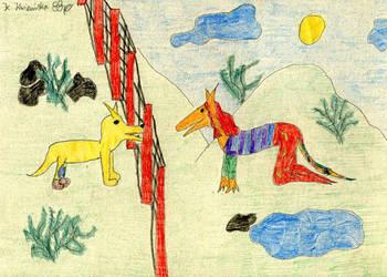 Enomencie i Barwny Wilk by Kejti2002