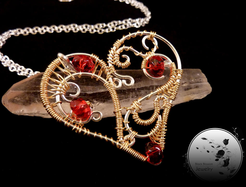Heart of Gold by BlackBlossomJewelry