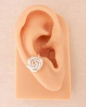 Wire Rose Ear Cuff by BlackBlossomJewelry