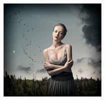 Goddess of Moon and Sky by davidrabin
