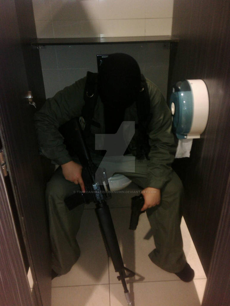 Msf Soldier Sitting On A Toilet By Thereanimatedunknown On Deviantart