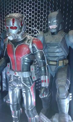 Ant-Man and Armored Batman statues
