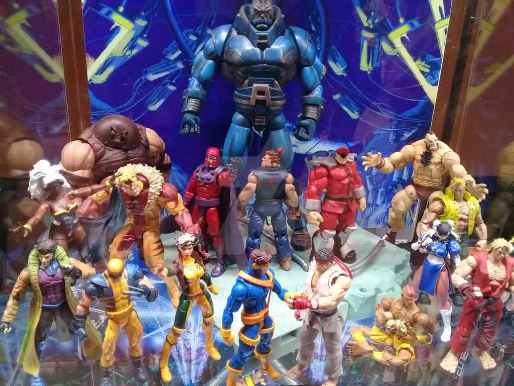 X Men Vs Street Fighter Display By Thereanimatedunknown On Deviantart