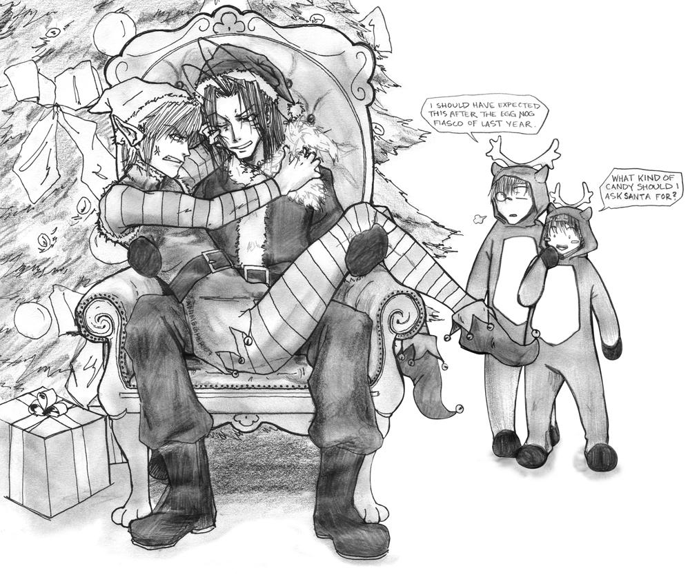 santa's lap by animegher
