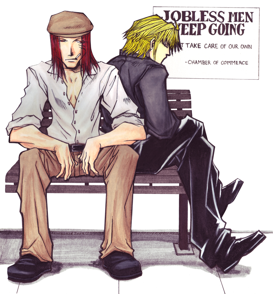 jobless men keep going by animegher