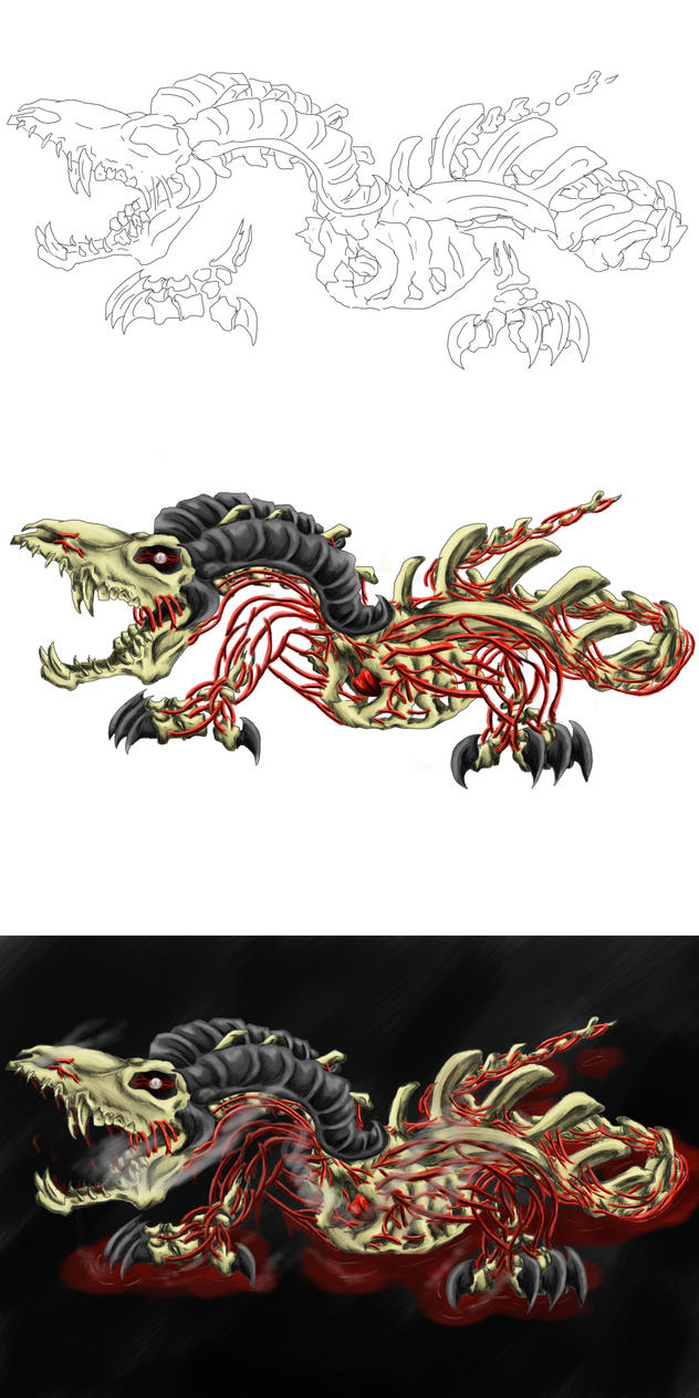 Blood demon stages by Brotseife