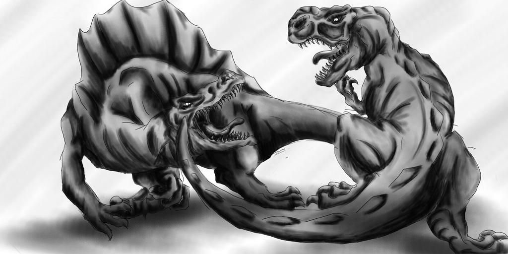 T.REX vs SPINO by Brotseife