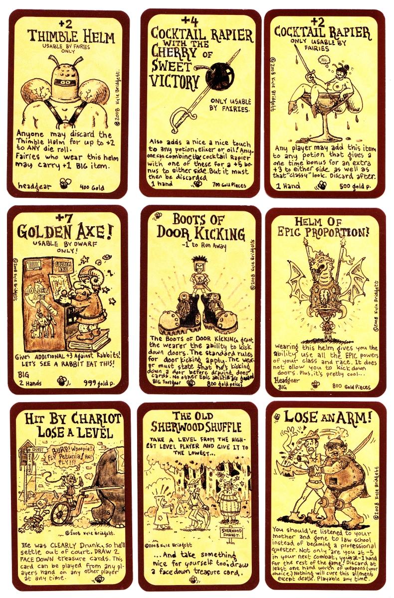 Munchkin Treasure cards by goodbunny2000