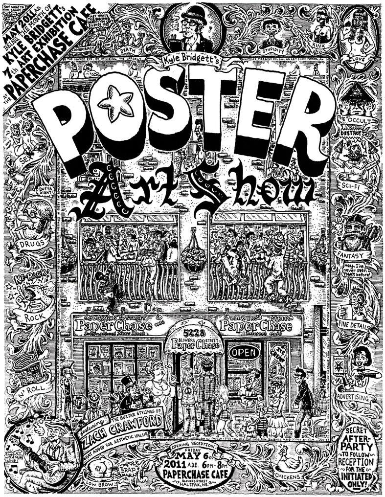 kyle bridgetts poster art show by