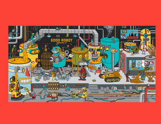 Good Robot Van Mural