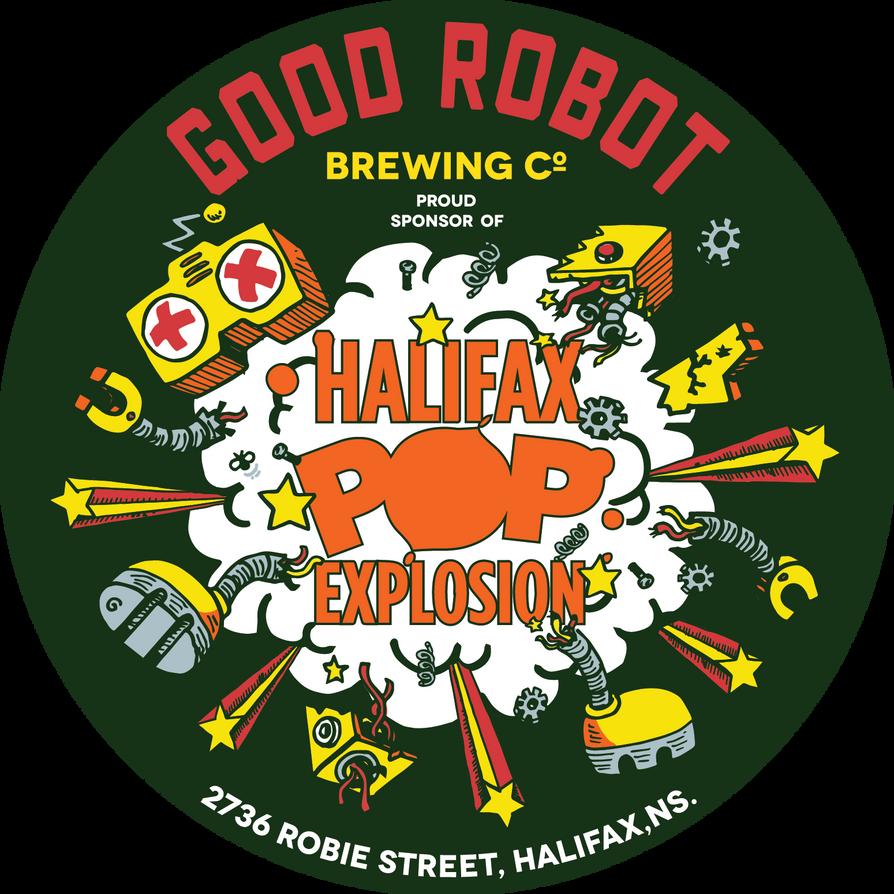 Good Robot Halifax Pop Explosion Sticker by goodbunny2000