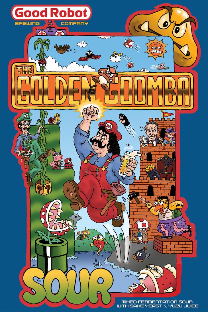 Golden Goomba by goodbunny2000