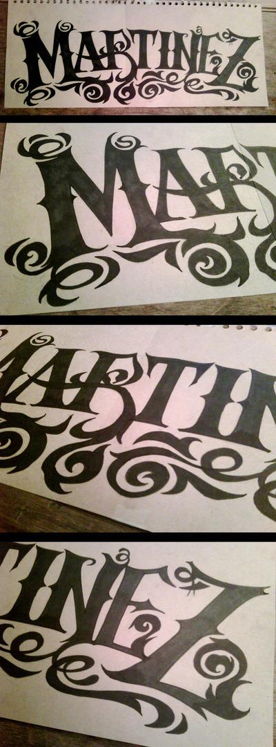 Martinez Tattoo Logo By Naasson On Deviantart