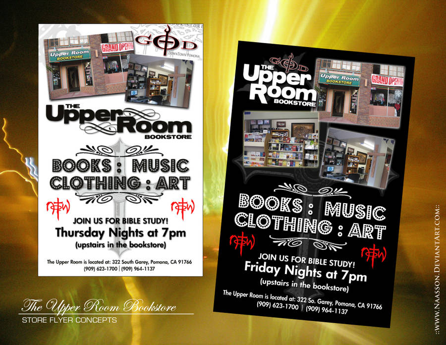 Upper Room Flyer Concepts by naasson