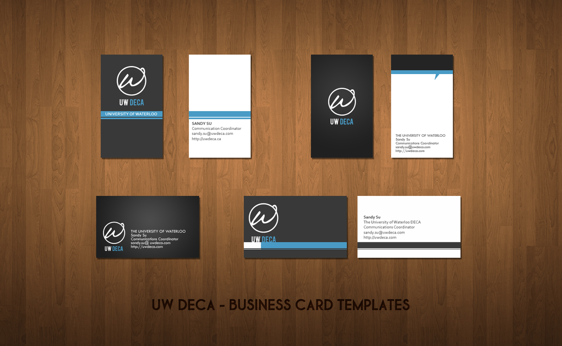 UW DECA - Business Cards by DefineDesign on DeviantArt