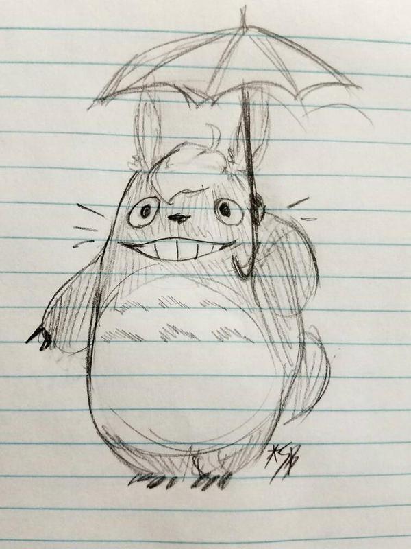 Totoro (sketch) by Scribblebun