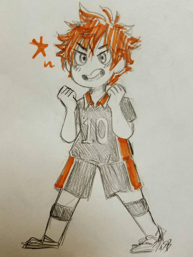 Haikyuu! Hinata (sketch) by Scribblebun