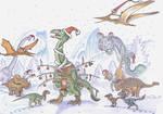 Merry Dinosaur X-mas